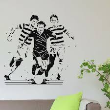 messi soccer player vinyl wall art decal sticker bedrooms