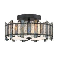 Quoizel Flush Mount Ceiling Light Shop Quoizel Sentry 14 In W Black Style Flush Mount Light