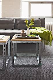 Interiors Made Easy Sofa Tables Made With Vertical Support Bars From Old Metal