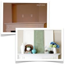 Fireplace Opening Covers by Before U0026 After Mantel Covering The Tv Niche Above The Fireplace