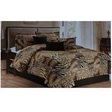 Faux Fur Comforter Set King Animal Print Comforters And Bedding Sets Ebay