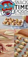 mini crescent dogs recipe paw patrol party paw patrol