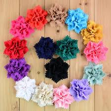 flowers for headbands new arrival 3 15 handmade fabric flowers for headbands diy baby