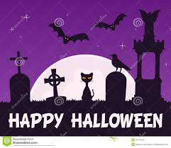 halloween night with scary cemetery stock vector image 44776764