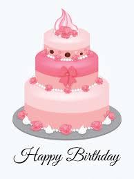 pink birthday cake ecard parabéns 3 pink birthday
