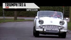 triumph tr3 1960 modest test drive engine sound scc tv youtube