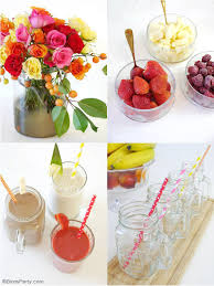 styling a smoothie bar for summer party ideas party printables