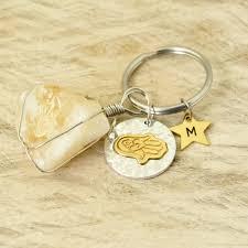 rings with initials personalized key rings initials keychain quartz keychain hamsa