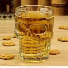 skull tiki drinking glass 18 oz novelty bar glasses
