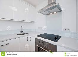 modern white kitchen stock image image of electric handle 15282167