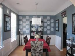 light of beautiful dining room paint colors with chair rail color