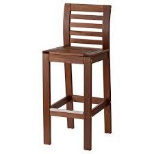 bar stool pics äpplarö bar stool with backrest outdoor brown stained ikea