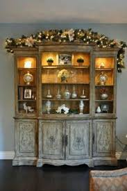 christmas china cabinet decor part of the holiday home tour at