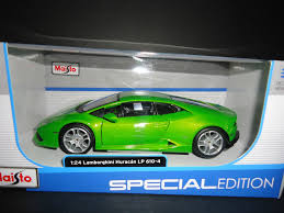 toy lamborghini lamborghini huracan diecast lp610 4 green 1 to 24 scale by maisto