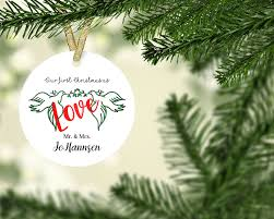 christmas ornaments newlywed christmas ornament first christmas