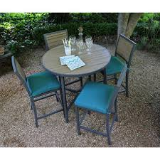 Patio High Dining Set Woodbridge 5 High Dining Set With Premium Sunbrella Fabrics