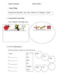 science vocabulary and interactive worksheet for esl students