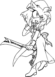 amy rose soldier coloring page wecoloringpage
