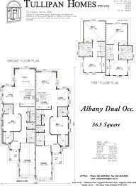 Double Storey House Floor Plans Double Storey Duplex Home Design Tullipan Homes