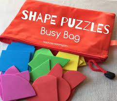 shape puzzles busy bag teach me mommy