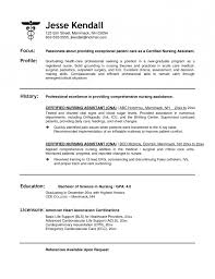 Cna Description For Resume Cna Resumes Examples Resume Example And Free Resume Maker