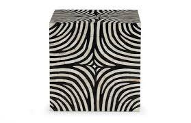 Zebra Side Table Bone Inlay Zebra Side Table