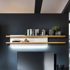 Wanduhren Wohnzimmer Mit Beleuchtung Wohnzimmer Wandboard Emirossa In Weiß Mit Eiche Wohnen De