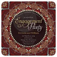 hindu engagement invitations bohemian indian fusion engagement party invitation