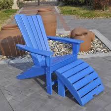plastic adirondack chairs with ottoman panama jack plastic adirondack chair and ottoman wayfair
