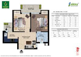 2bhk floor plan sikka kaamya greens floor plans with price list