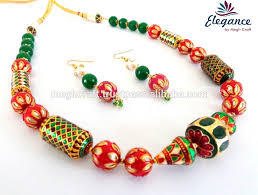 colored necklace set images 2016 fashion wear jewelry wholesale indo western jewellery jpg