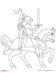 coloriages pour garçon le chevalier à l u0027épée
