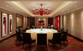 red chandelier shades for luxury dining room with extra large