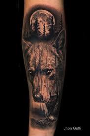 wolf moon forest by jhon gutti tattoonow