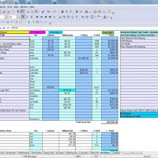 cost estimate excel template estimating technology operations