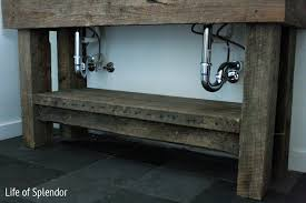 Rustic Bath Vanities Inspired Design Challenge Week 4 Anthropologie End Table Inspired