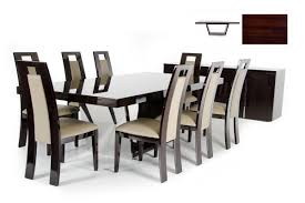 Modern Dining Furniture Christa Modern Ebony High Gloss Dining Table