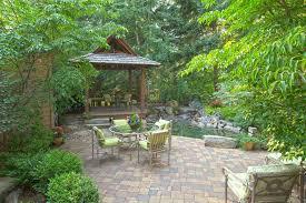 cobblestone patio ideas patio traditional with rock pond rock pond