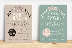 20 sample baby shower invitations psd vector eps