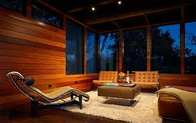 beautiful outdoor views traditional living room design in the