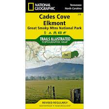 Smoky Mountain National Park Map 316 Cades Cove Elkmont Great Smoky Mountains National Park Trail