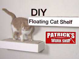 wall mounted cat stairs diy floating cat shelf youtube