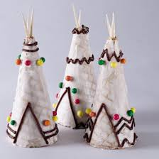 tepee treats edible decorations thanksgiving