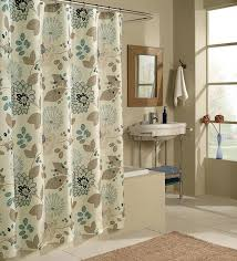 Brown Floral Shower Curtain Brown And Cream Shower Curtain Cream Waffle Shower Curtain With
