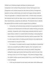 comparative analysis essay sample cover letter example comparison and contrast essay example compare cover letter comparison contrast essay examples template ideas for compare essayexample comparison and contrast essay large