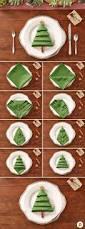 christmas tree napkins turn a green napkin into a lovely