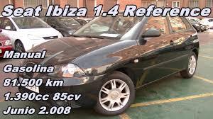 seat ibiza 1 4 reference 08 manual gasolina 85cv 81 500km
