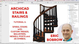 spiral staircase floor plan archicad stairs u0026 railings tutorial 2 spiral stair with custom