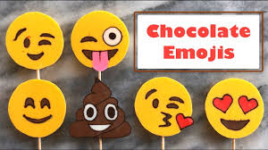 chocolate emoji how to make chocolate emojis traced with chocolate youtube