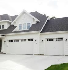 garage door options all white house black roof white shaker garage door options all white house black roof white shaker shingles white